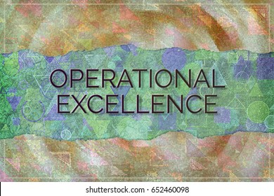 Operational excellence, business conceptual, with colorful background for web page, graphic design, wallpaper, catalog or wallpaper.