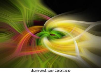 Optisch abstrakt verdrehtes Licht, als Hintergrund. Kraftvolles Energie-Element mit hypnotischer Wirkung.