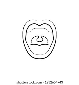 oral cavity icon. Element of dantist for mobile concept and web apps illustration. Hand drawn icon for website design and development, app development
