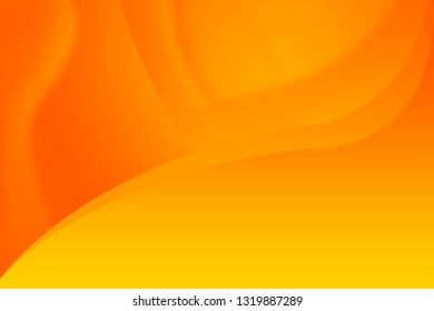 Orange Abstract Background in a Clothing Shape, copy space banner.