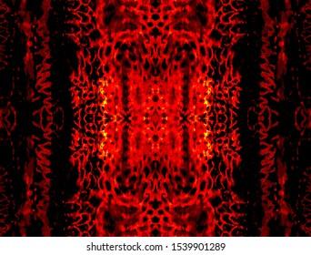 Orange Animal Exotic Background. Seamless Leopard. Animal Skin Texture. Bronze Zebra Texture. Orange Fashion Print Texture. Black Seamless Camouflage.