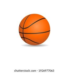 黒い線とオレンジのバスケットボールイラスト