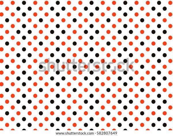 Orange black dots pattern