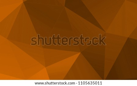 Orange Black Gradient Abstract Triangle Background 3D Triangles Modern Wallpaper