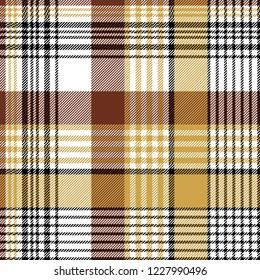 Orange brown fabric texture background seamless pattern. Flat design.