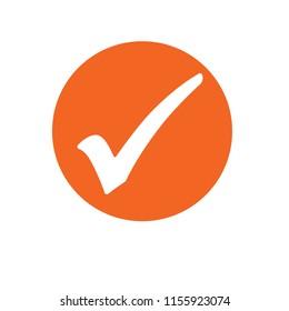 orange check mark icon