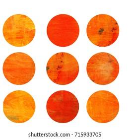 Orange circles. Web design. Circles isolated on white background. Logo design. Art geometric pattern. Web design. Orange colored circles. Orange pattern
