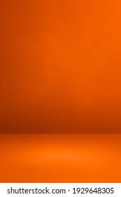 Orange concrete interior background. Empty template scene
