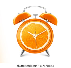 ORANGE FRUIT CLOCK