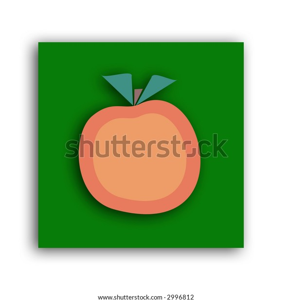 An orange fruit icon with a drop shadow