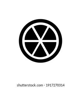 Orange Fruit Icon Logo Simple Design