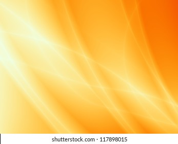 ORANGE glossy background abstract artistic wave illustration