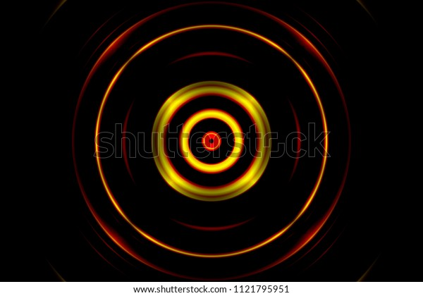 Orange light circle, abstract background