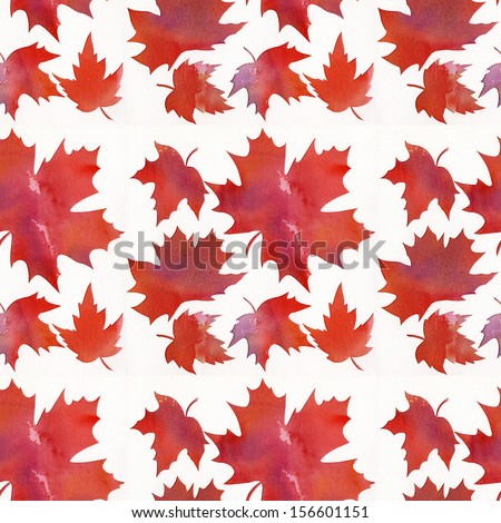 Orange Maple Leaf Pattern Abstract Watercolor Stock Illustration Interesting Maple Leaf Pattern