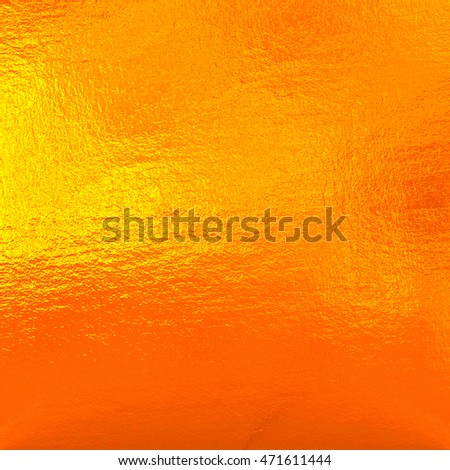 Orange Metal Background Color Foil Stock Illustration 471611444