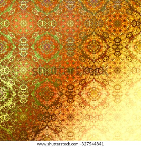Orange Metallic Oriental Pattern Indian Traditional Elements Royal Gold Texture For Textile Wallpapers