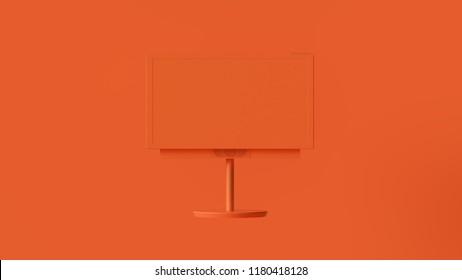 Orange Modern TV 3d illustration