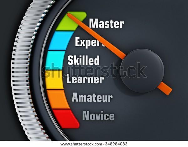 Orange needle on Master level on experience levels speedmeter