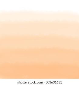 Orange Ombre Watercolor Background