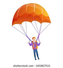 Orange parachute icon.