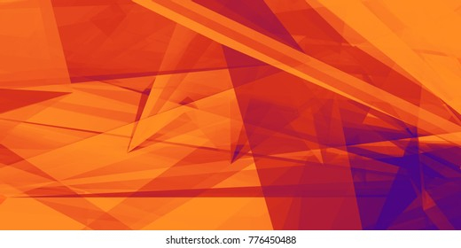 Orange Purple Abstract Background for Design as Polygon Pattern