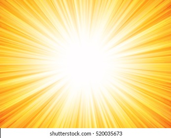 orange rays summer background
