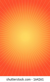 Orange and red background with radiant rays