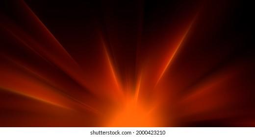 Orange and red sunbeam burst of light