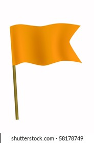Orange small flag