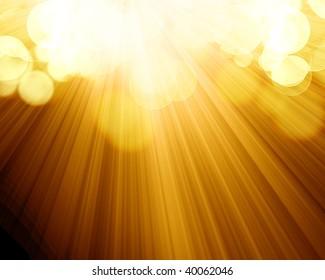 orange spotlight with some rays on it