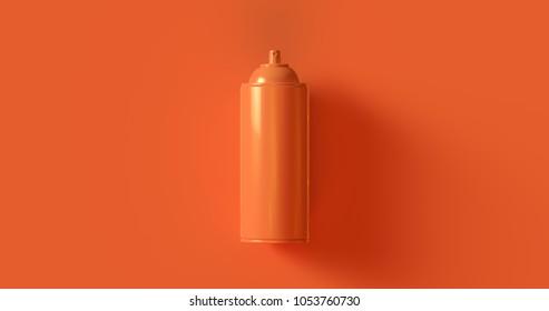 Orange Spray Can 3d illustration