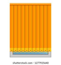 Orange vertical jalousie icon. Cartoon of orange vertical jalousie icon for web design isolated on white background