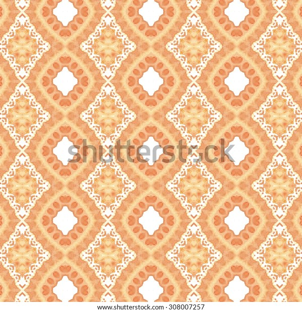 orange watercolor background, mosaic pattern