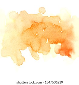 orange watercolor stain background art paint stroke texture