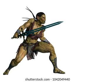 Orc Girl 3d illustration