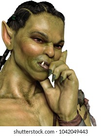 Orc Girl 3d illustration