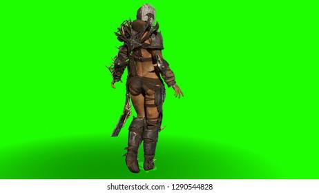 Orc girl 3d render