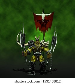 Orc Warrior Legendary Warriors Carrying weapons