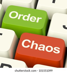 Order Or Chaos Keys Shows Either Organized Or Unorganized Online Confusion With Data.