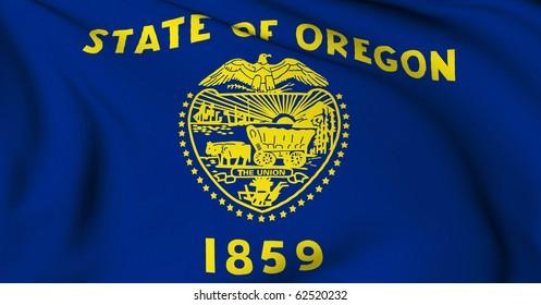 Oregon flag - USA state flags collection