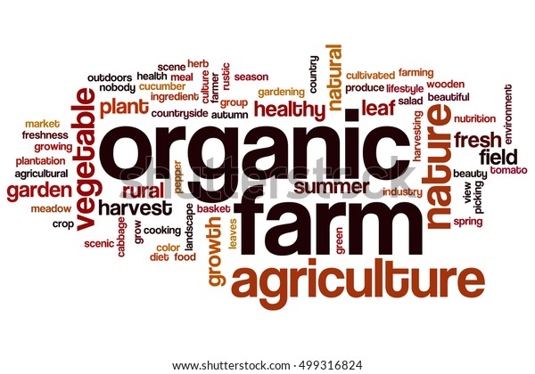 Organic Farm Word Cloud Concept Words Stock Illustration 499316824