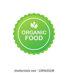 Organic food. Healthy food labels with lettering. Vegan food stickers. Organic food badge. Lettering Natural.  stock illustration.