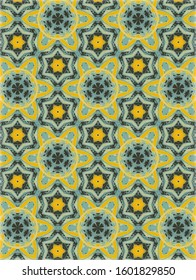 organic yellow and green geometric pattern