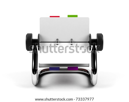 Organizer isolated on a white background.