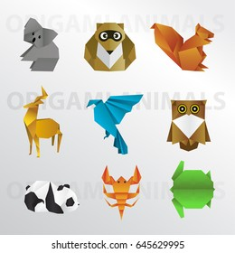 Origami animal colection