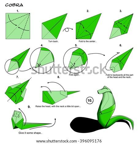 Origami plant diagrams house wiring diagram symbols origami animal snake cobra diagram instructions stock illustration rh shutterstock com origami flowers step by step mightylinksfo