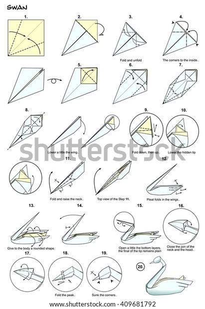 How to Make an Origami Swan (Intermediate) - Rob's World - YouTube | 620x411