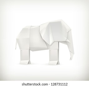 Origami elephant, bitmap copy