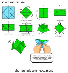 Origami Fortune Teller Instructions Steps