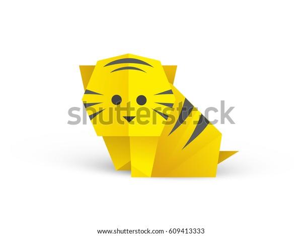 Origami Tiger   LoveToKnow   470x600